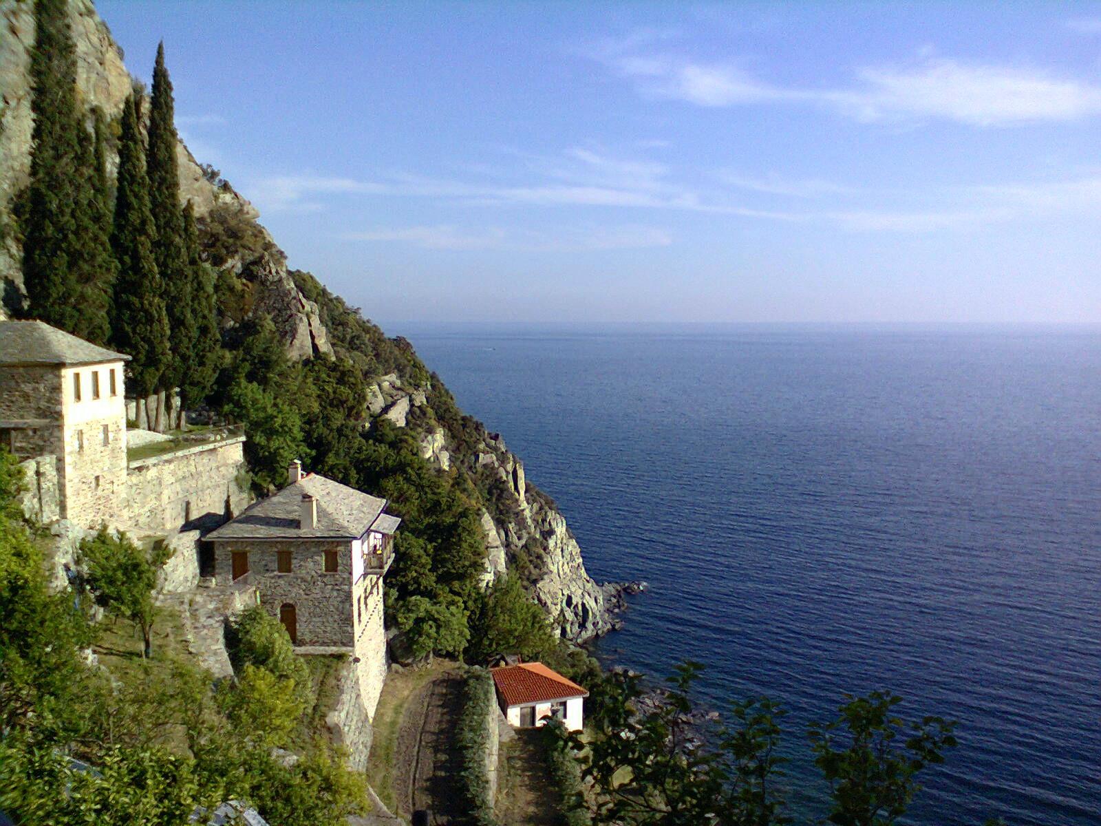 Греция гора афон монастырь