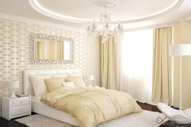 Ремонт спален в светлых тонах
