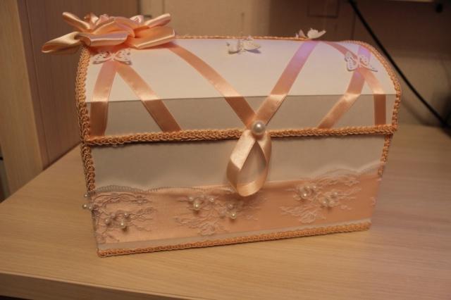 Свадебный сундучок из картона